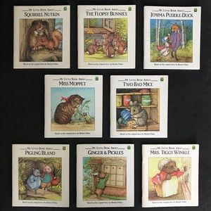 "(8) ""1991"" Beatrix Potter Paperback Books"